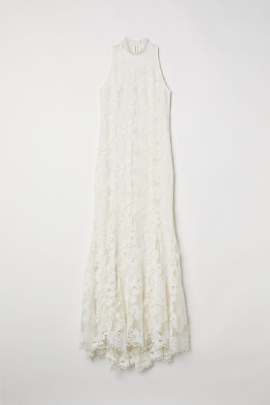 Long lace dress - Natural white - Ladies | H&M CN