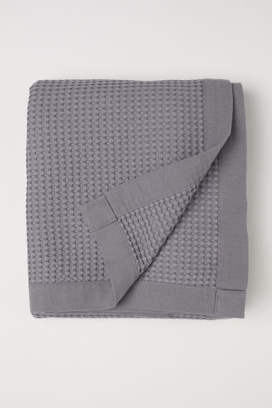 Waffled cotton bedspread - Grey - Home All | H&M CN