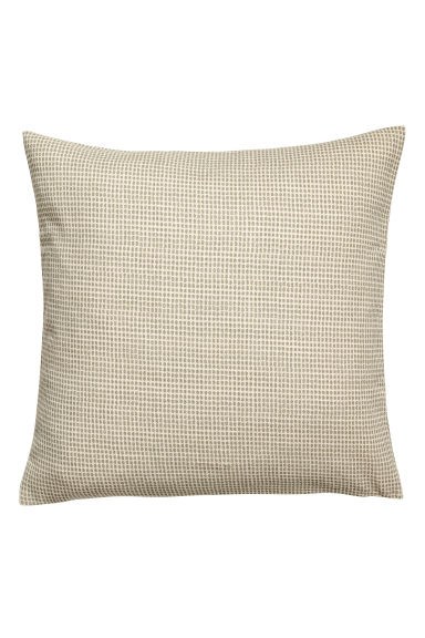 Copricuscino a pois - Bianco naturale/verde pois - HOME | H&M IT