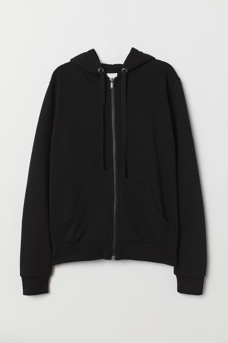 Hooded jacket - Black - Ladies | H&M CN