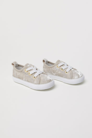 Trainers - Light beige/Velour - Kids | H&M CN