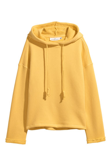 Wide hooded top - Yellow -  | H&M