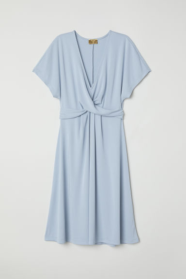 Draped dress - Light blue - Ladies | H&M CN