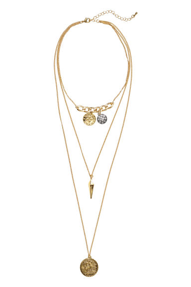 Three-strand necklace - Gold-coloured - Ladies | H&M IE