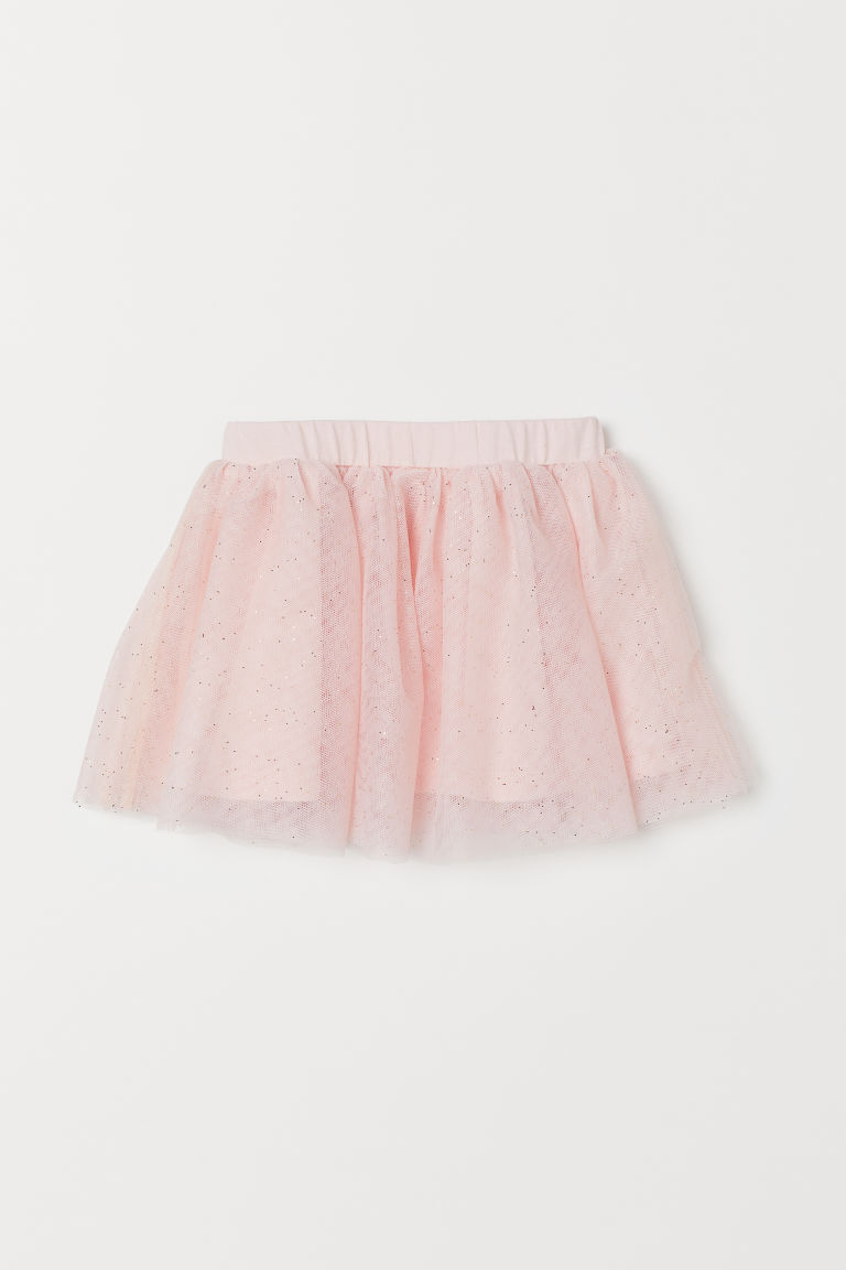 Glittery Tulle Skirt - Powder pink - Kids | H&M CA