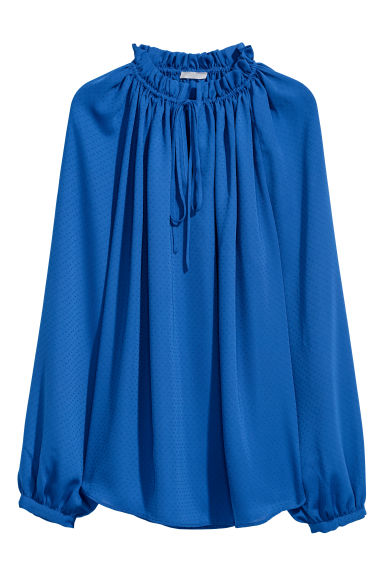 Textured-weave blouse - Cornflower blue -  | H&M