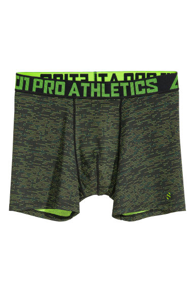 Sports boxer shorts - Black/Neon green -  | H&M CN