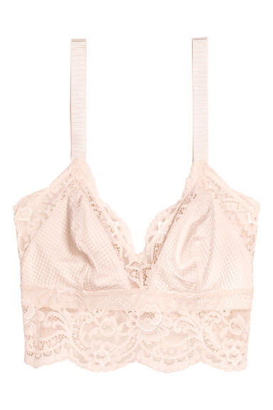 Lace bralette - Light beige - Ladies | H&M CN