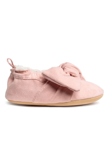 Soft slippers - Powder pink/Bow -  | H&M CN