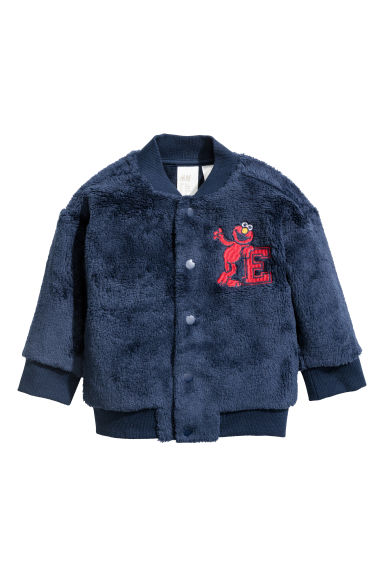 Baseball jacket - Dark blue/Elmo - Kids | H&M CN