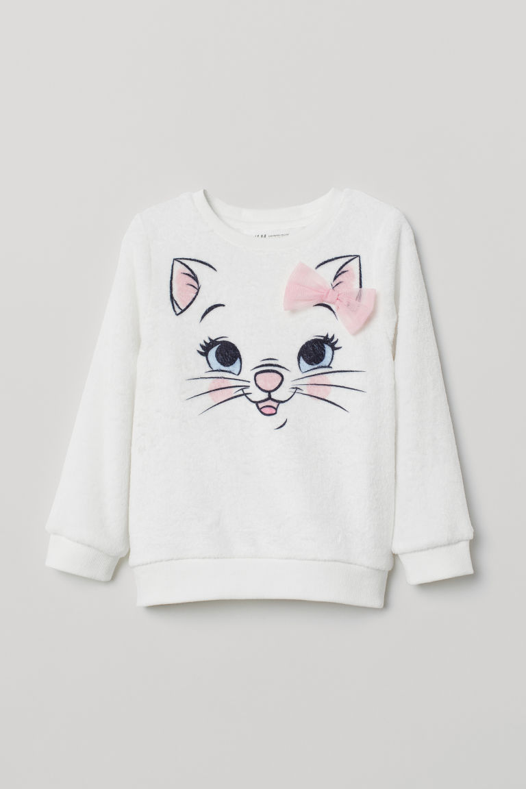 Pile top with a motif - White/Aristocats - Kids | H&M CN