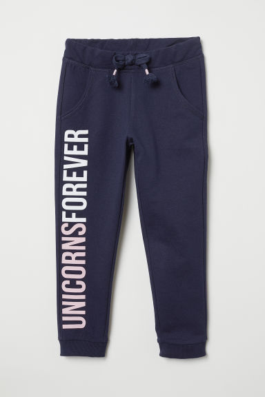 Joggers - Dark blue/Unicorns Forever - Kids | H&M
