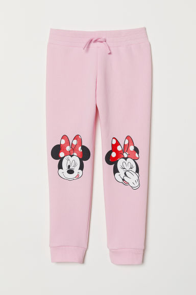 Printed sweatpants - Pink/Minnie Mouse - Kids | H&M CN