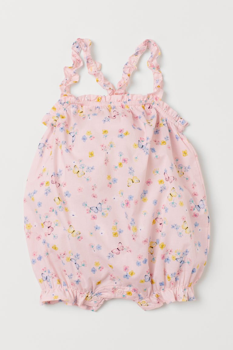 Sleeveless Jumpsuit - Light pink/floral - Kids | H&M US