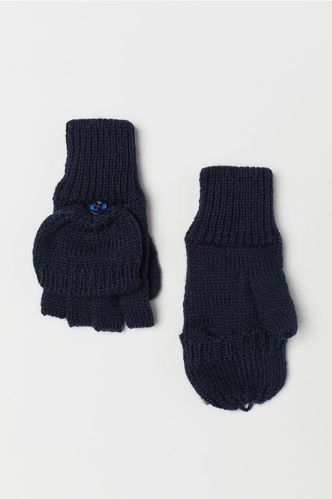 Manoplas/mitones - Azul oscuro - NIÑOS   H&M ES