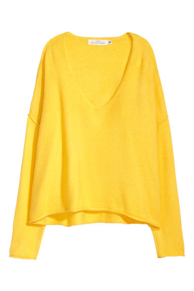 Knitted jumper - Lemon yellow - Ladies | H&M