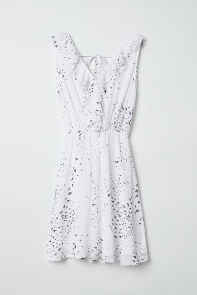 Wrap dress - White/Swallows -  | H&M