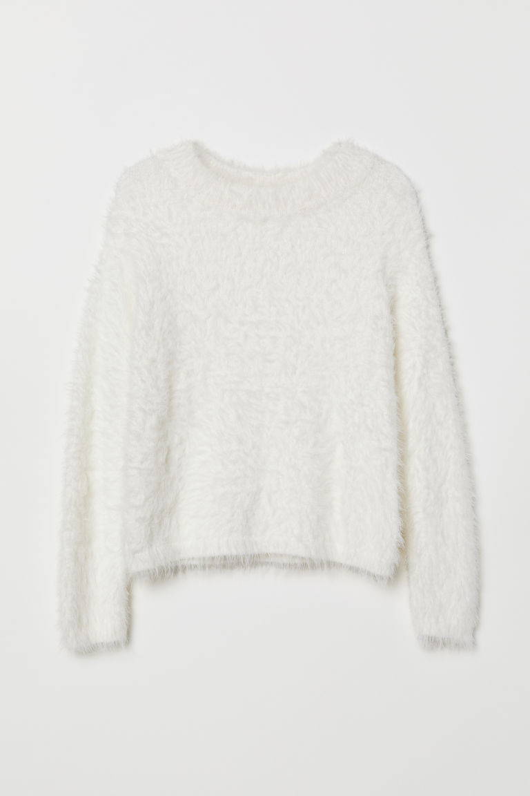 Fluffy jumper - White - Kids | H&M