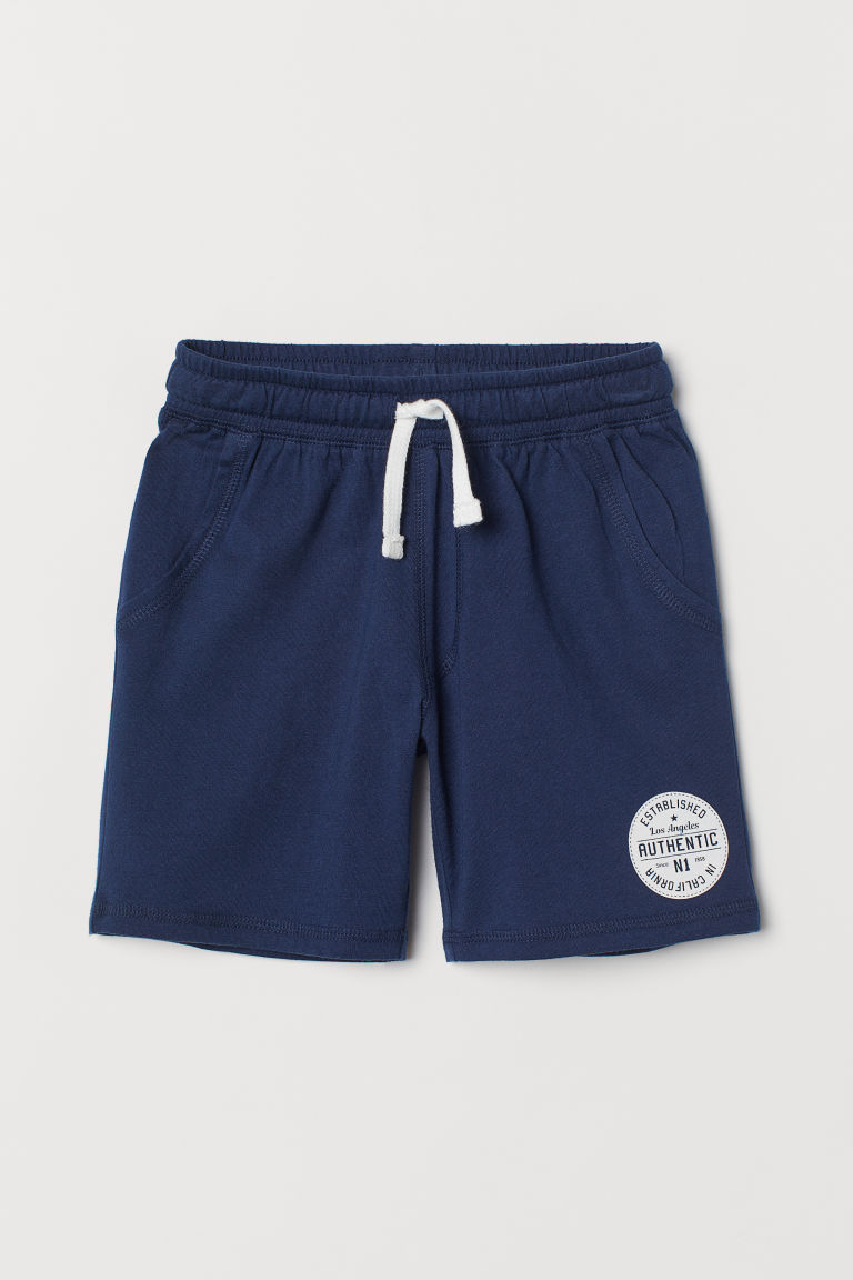 Jersey shorts - Dark blue -  | H&M CN
