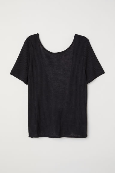 Open-backed top - Black - Ladies | H&M