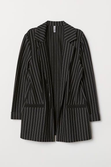 Jersey jacket - Black/Striped -  | H&M