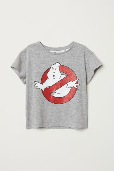 Printed T-shirt - Light grey marl/Ghostbusters - Kids | H&M