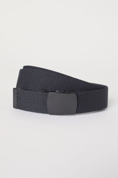 Fabric belt - Black - Men | H&M