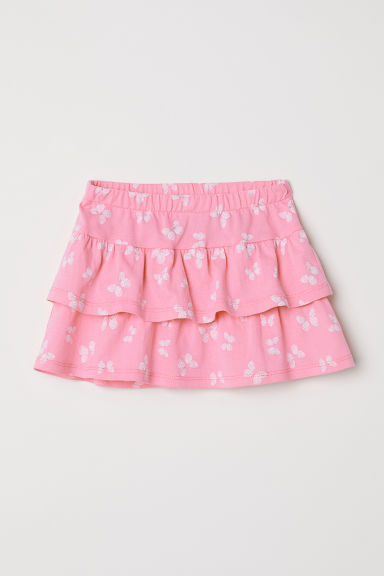 Flounced skirt - Pink/Butterflies - Kids | H&M CN