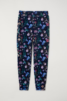 Patterned velour joggers