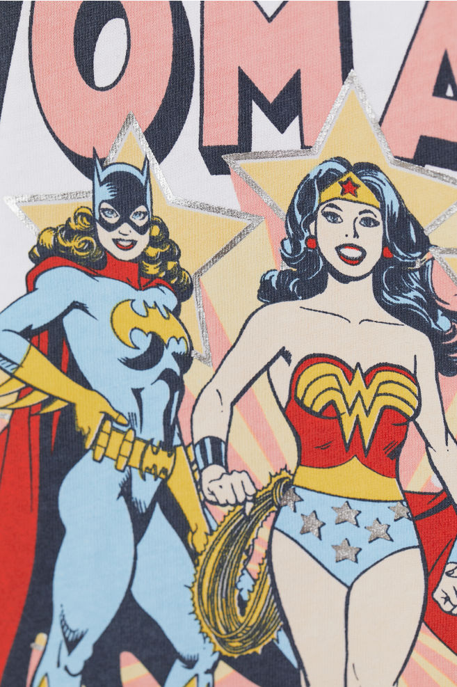 ec2cec56af8 ... Motifli Tişört - Beyaz Wonder Woman - KADIN