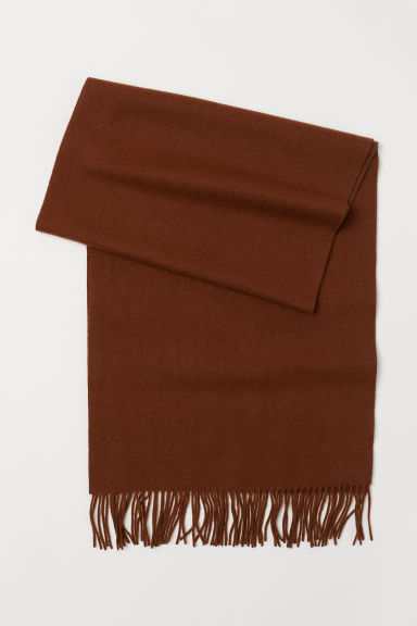 Wool scarf - Dark brown - Ladies | H&M