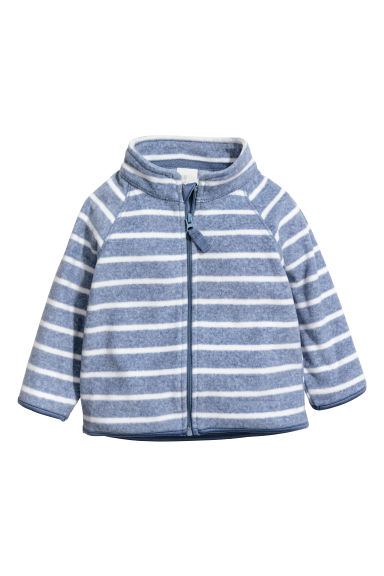 Fleece jacket - Blue/Striped - Kids | H&M CN