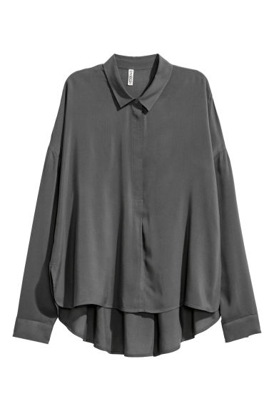 Wide shirt - Dark grey -  | H&M