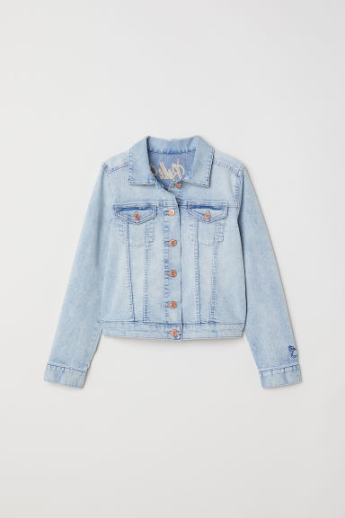 Embroidered denim jacket - Light denim blue/La Belle Vie -  | H&M CN