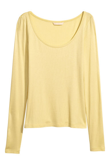 Jersey top - Yellow -  | H&M