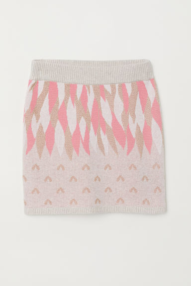 Fine-knit skirt - Pink/Gold-coloured - Kids | H&M