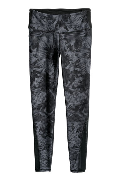 Collant de yoga Shaping waist - Noir/motif - FEMME | H&M BE