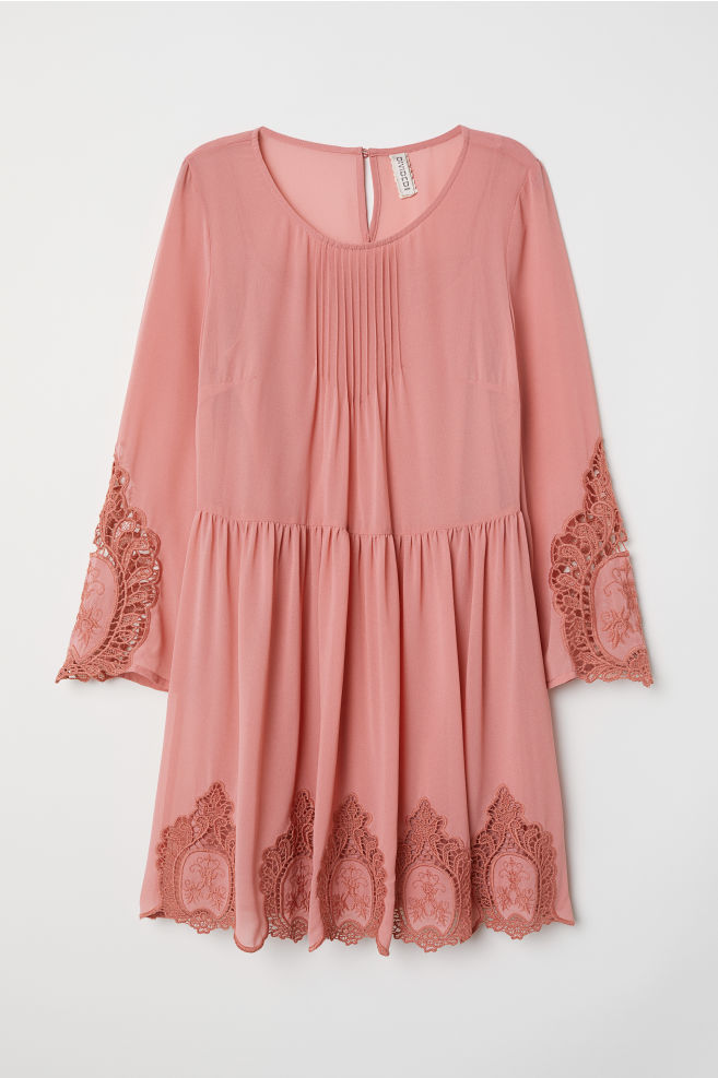0ef46764638e2 Dantelli Elbise - Vintage pembe - | H&M ...