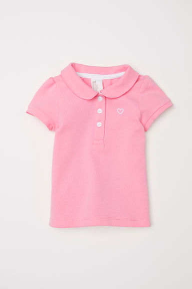 Polo shirt - Light pink - Kids | H&M CN