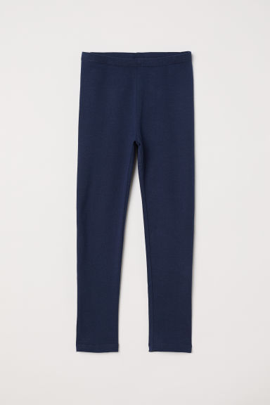 Jersey leggings - Dark blue - Kids | H&M CN