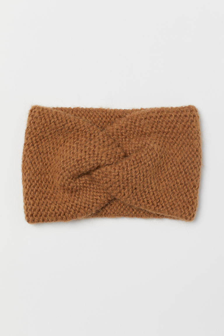 Knitted headband - Light brown - Ladies | H&M GB