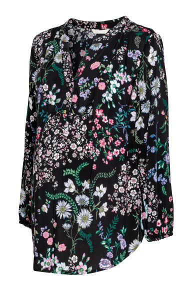 MAMA Blouse - Black/Floral - Ladies | H&M CN
