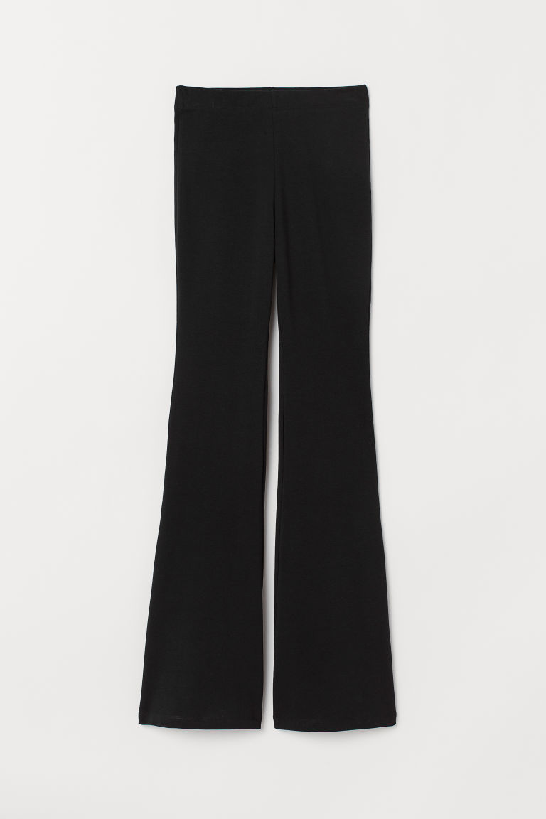 Flared leggings - Black -  | H&M GB