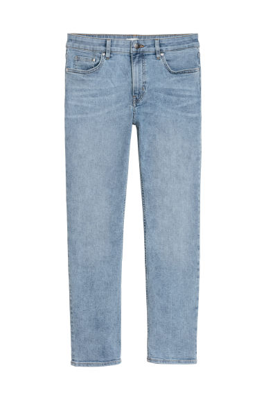 Enkellange stretchbroek - Licht denimblauw - DAMES | H&M BE