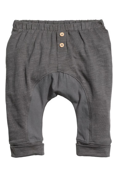 Slub jersey trousers - Dark grey - Kids | H&M