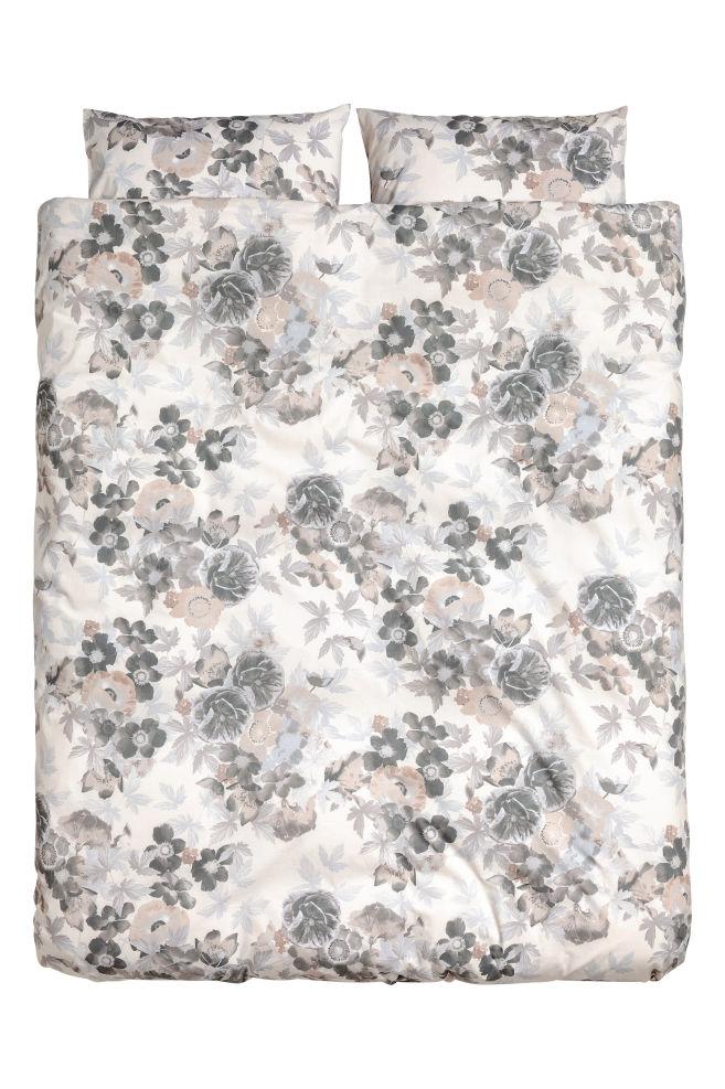 6454b30a Blomstermønstret sengesett - Hvit/Blomster - Home All | H&M ...