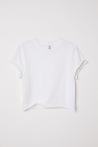 Top corto in jersey - Bianco naturale -  | H&M IT
