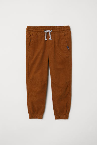 Cotton pull-on trousers - Light brown/Corduroy - Kids | H&M