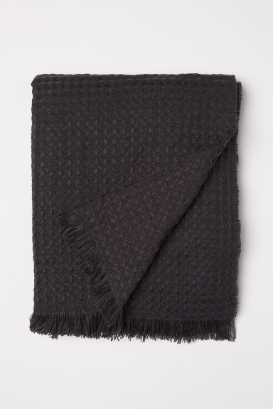 Waffled Throw - Charcoal gray - Home All | H&M CA