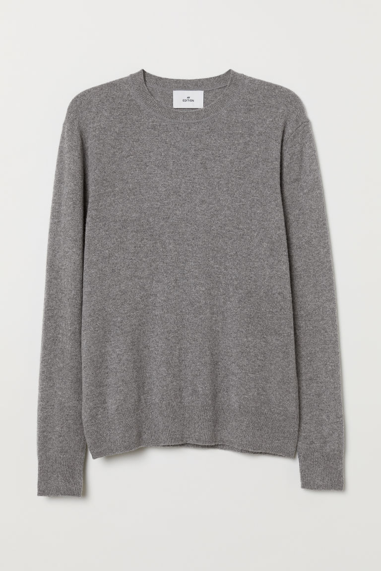 Cashmere jumper - Grey marl - Men | H&M